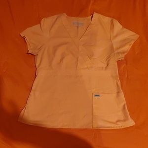Grey's Anatomy  peach scrub top size L